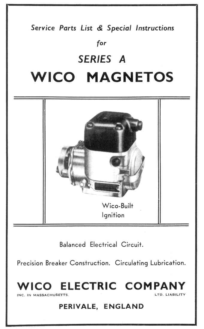 001390 wico series a magneto instructions, 8 pages, $6 50, 1 copy in  stock