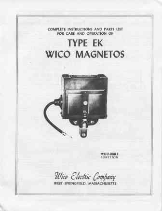 001430 wico ek magneto instructions types 1, 2 & 3 drives, 1954, 8  pages, $13 00
