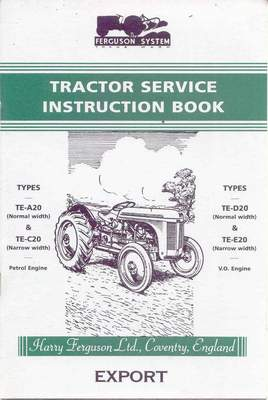 Original Ferguson Linkage Winch Instruction Book Special Buy Agriculture/farming Tractor Manuals & Publications