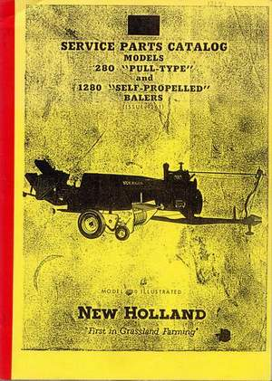 Farming & Agriculture Media 1981 New Holland 705 Combine Harvester Parts Book