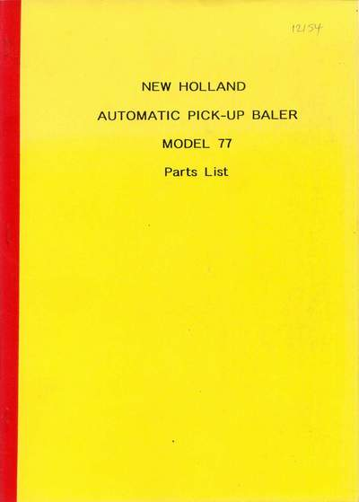 Industrial Farming & Agriculture 1981 New Holland 705 Combine Harvester Parts Book