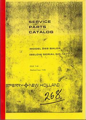 Farming & Agriculture Industrial 1981 New Holland 705 Combine Harvester Parts Book