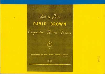 david brown electrical equipment service repair manual 1978