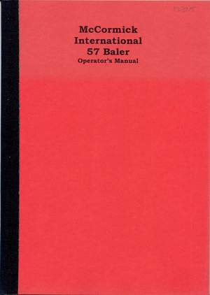 012325 ihc 57 baler operators manual 1968 (photocopy), $25 00, 1 copy  in stock