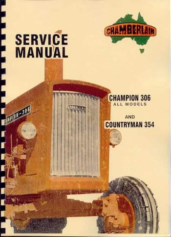 Industrial Chamberlain Champion 306 1967 Parts Book photocopy ...